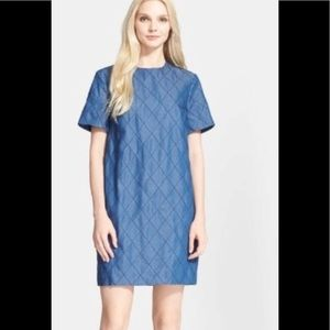 Kate Spade Quilted Chambray Shift Dress 6